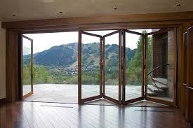 unique accordion glass patio doors