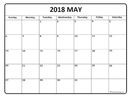 May Blank Calendars May 2018 Calendar May Calendar 2018 Printable And Free