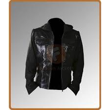 men s slim fit hooded motorcycle jacket men s leather jacket uk