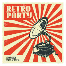 School Poster Designs Retro Party Advertising With Old Gramophone Old School Poster