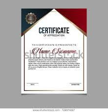 Creative Certificate Appreciation Award Template Blue Stock