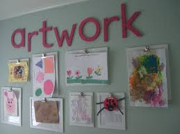 Childrens Artwork Display Kitchen Wall Kids Artwork Display For The Home Pinterest