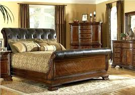 leather and wood sleigh bed photo of king size leather sleigh bed with black all full leather and wood sleigh bed king