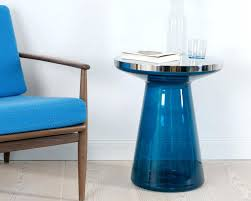blue glass coffee table clurful art deco blue glass coffee table