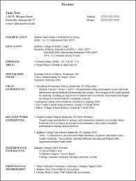 Music Teacher Resume Format Sample Teacher Resumes Resume Sample Of