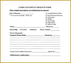 6 It Service Request Form Template | Fabtemplatez