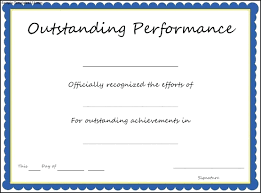 Best Performance Award Certificate Template Certificate Of Performance Sample Filename Blue