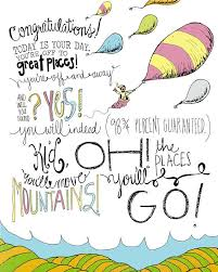 Dr Seuss Oh The Places You Ll Go Quotes Delectable Dr Seuss Oh The Places You'll Go 48x48 Wall Print Hand Drawn