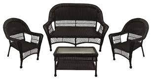 4 piece resin wicker patio furniture