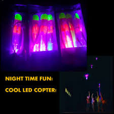 glow flyer china cobra launcher glow rockets copters catapult night flyer toy