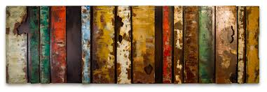 amazing hand crafted coloured bars metal wall art panel regarding metal wall art panels popular