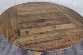 recycled teak wood round dining table