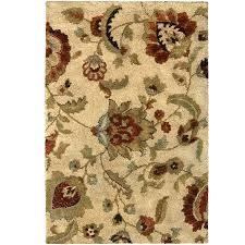 allen roth cliffony cream beige almond indoor area rug common 4