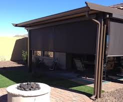 we can install beautiful retractable shade screens roll down shade to provide relief from the harsh arizona sun