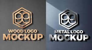 Logo Mock Up Wood And Metal Cut Logo Mockups Graphicsfuel