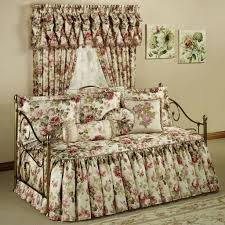 fascinating fl daybed comforter set with fl curtain