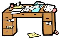messy desk clipart. Simple Desk Messy School Desk Clipart 1 To I