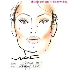 how to contour an interactive makeup contouring face chart by mac s gregory arlt