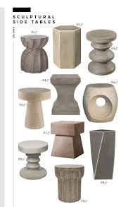 Cement side table Stool 01 Industrial Wrap Side Table 02 Porto Side Table 03 Athen End Table 04 Chestle Side Table 05 Trou Side Table 06 Acid Wash Side Table Room For Tuesday Trend Alert Sculptural Side Tables Room For Tuesday