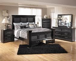bed room furniture images. Ashley Furniture Cavallino Bedroom Set With Mansion Poster Bed, Storage Footboard. Bed Only $799.95 Room Images