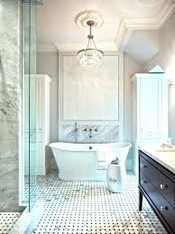 crystal chandelier bathroom small chandeliers for awesome useful master