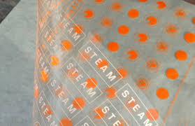 closeup custom dry transfer orange labels