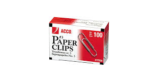 Paper Clip Size Chart Acco 72320 Silver Smooth Finish 100 Count 3 Standard Paper Clips 10 Box