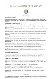 Electrical Engineering Resume Examples From Electrical Engineer