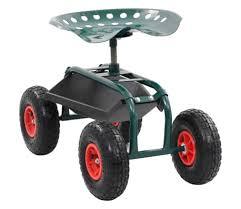 vidaxl rolling garden cart with tool