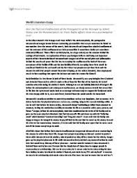 an example of a poor quality world lit essay international  page 1 zoom in