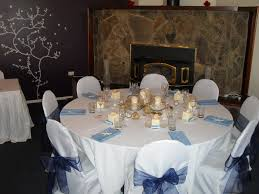 awesome round wedding table decorations with sweet balloon cool blue leafy cylinder vase centerpieces