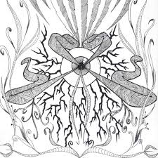 1185x1185 coloring trippy mushroom coloring pages easy hippie drawings