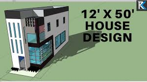 12 x 50 3d house design rk survey design