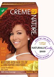 Creme Of Nature Permanent Hair Color Chart Vivid Red Creme Of Nature