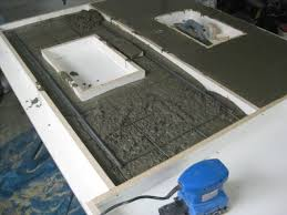 step by step guide to making concrete countertops