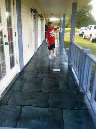 Decorative Concrete Overlay Custom Made Faux Slate Decorative Concrete Overlay By Glamour