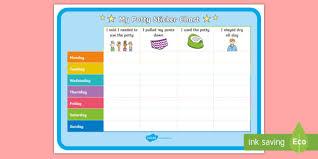 Potty Training Week Progress Sticker Reward Chart Toilet