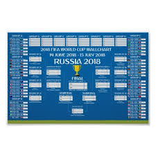 World Cup Russia Wall Chart Wallchart Fifa 2018 World Cup Russia Pdf Poster Vector