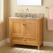 Bamboo Bathroom Cabinets 36 Narrow Depth Alcott Bamboo Vanity For Undermount Sink Bathroom