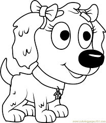 pound puppies sweet pea printable coloring page for kids and s