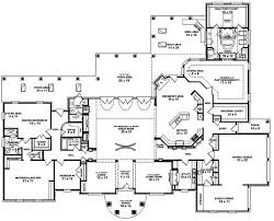5 bedroom floor plans. Single Story House Plans With Wrap Around Porch Featured 5 Bedroom Floor