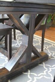 amusingmj s fancy x leg farmhouse table