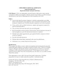 Free Dental Assistant Resume Templates Entry Level Resume Samples