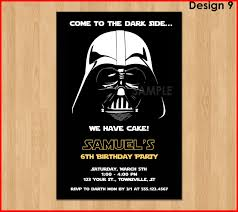 star wars birthday invite template beautiful darth vader invitations collection of invitation customize