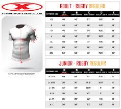 Jersey Size Chart Sizing