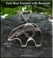 sterling silver bear pendant with