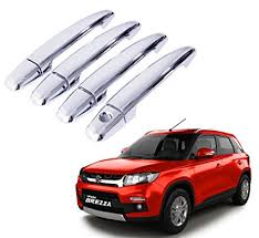 auto pearl chrome door handle latch cover for maruti suzuki vitara brezza set of 4