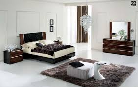 stylish bedroom furniture sets. White Elegant King Bedroom Furniture Set With Wall Mounted Wooden Black  High Gloss Finish Square Bed And Brown Rectangle Zigzag Stylish Bedroom Furniture Sets