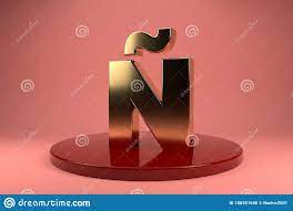 Golden Letter N Uppercase Wallpaper. 3d ...