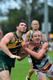 AFL Preliminary final in Maroochydore between Maroochydore and Caloundra.  Jacob ... | Buy Photos Online | Ballina Shire Advocate